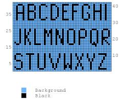 Free Knitting Chart Alphabet