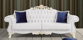 casa padrino barock sofa hellgrau weiß gold 235 x 85 x h 112 cm edles wohnzimmer sofa mit glitzersteinen barock möbel