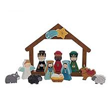Image Unavailable Not Available For Color Cupcakes Cartwheels Handpainted Nativity Set