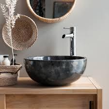 waschbecken aus marmor grey
