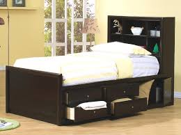Full Bed with Storage Drawers — Modern Storage Twin Bed Design