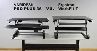 Varidesk Pro Plus 36 by Varidesk Pro Plus 36 Vs Ergotron Workfit T Which Is Better