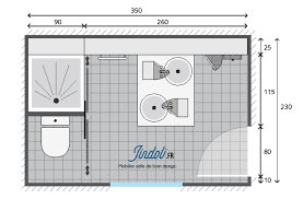exemple plan de salle de bain de 9m2 plan salle de bain