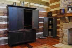 Primitive Living Rooms Design by Central Kentucky Log Cabin Primitive Kitchen Eclectic Living