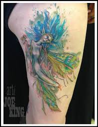 Squished Fairy On Outer Thigh By Joe King TattooNOW