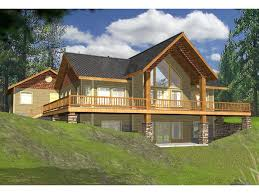 Lakeside Cabin Plans by Lakefront House Plans With Walkout Basement Basements Ideas