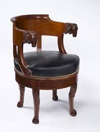 decoration de bureau empire period mahogany fauteuil de bureau à assise tournante