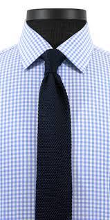 Light Blue Gingham Broadcloth Custom Dress Shirt