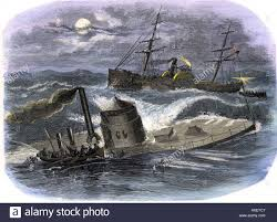 Uss America Sinking Photos by Sinking Of The Ironclad Gunboat Monitor In A Gale Off North