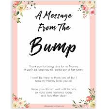 Message From The Bump Spring Floral C Baby Shower In