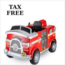 100 Fire Truck Ride On Paw Patrol Toy 6V Powered Kids Marshall Rescue