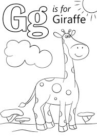 Click To See Printable Version Of Letter G Is For Giraffe Coloring Page
