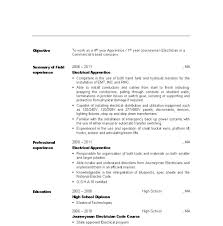 Captivating Sample Resume For Electrician Assistant About Apprentice