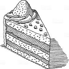 Piece Cake Drawing royalty free piece of cake drawing stock vector art &