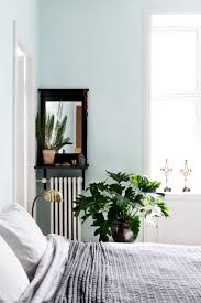 style outstanding light blue walls with brown furniture