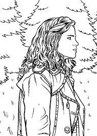 Harry Potter Hermione Coloring Pages