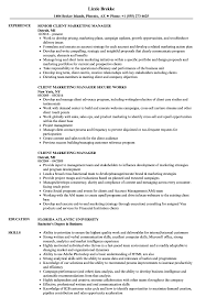 Download Client Marketing Manager Resume Sample As Image File