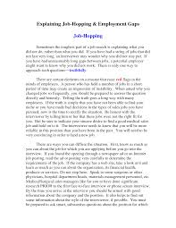 Cover Letter Examples For Job Hoppers