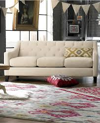Alessia Leather Sofa Living Room by Macys Tufted Sofa Best Home Furniture Decoration