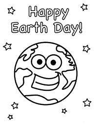 Earth Day Happy To All Coloring Page