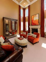 Brown Living Room Decorating Ideas by Living Room With Interface Reddish Tan Interior Decoration Ideas