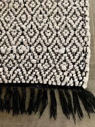 teppich badezimmer schwarz weiss boho kaufen auf ricardo