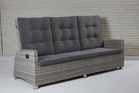 3 sitzer ca 211 x 108 x 88 cm doppelt halbrund white grey inklusive sitzkissen