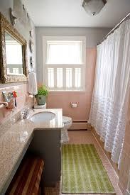 houzz bathroom bathroom eclectic with pink mosaic floor tile pink