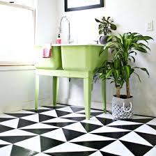 Patterned Linoleum Tile Floor Designer Flooring Lino