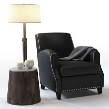 Crate And Barrel Denley Floor Lamp by 3d Model Crate And Barrel Metropole Leather Chair Vr Ar Low