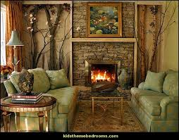 Rustic Style Living Room Northwoods Themed Rooms Camping Theme