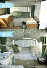 Pop Up Trailer With Bathroom Camper Remodel Before And After Pictures Of Our