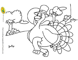 Thanksgiving Coloring Pages From Crayola A Turkey Wearing Pilgrim Hat