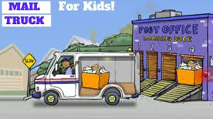 Mail Truck! Deliver The Mail! L For Kids - YouTube