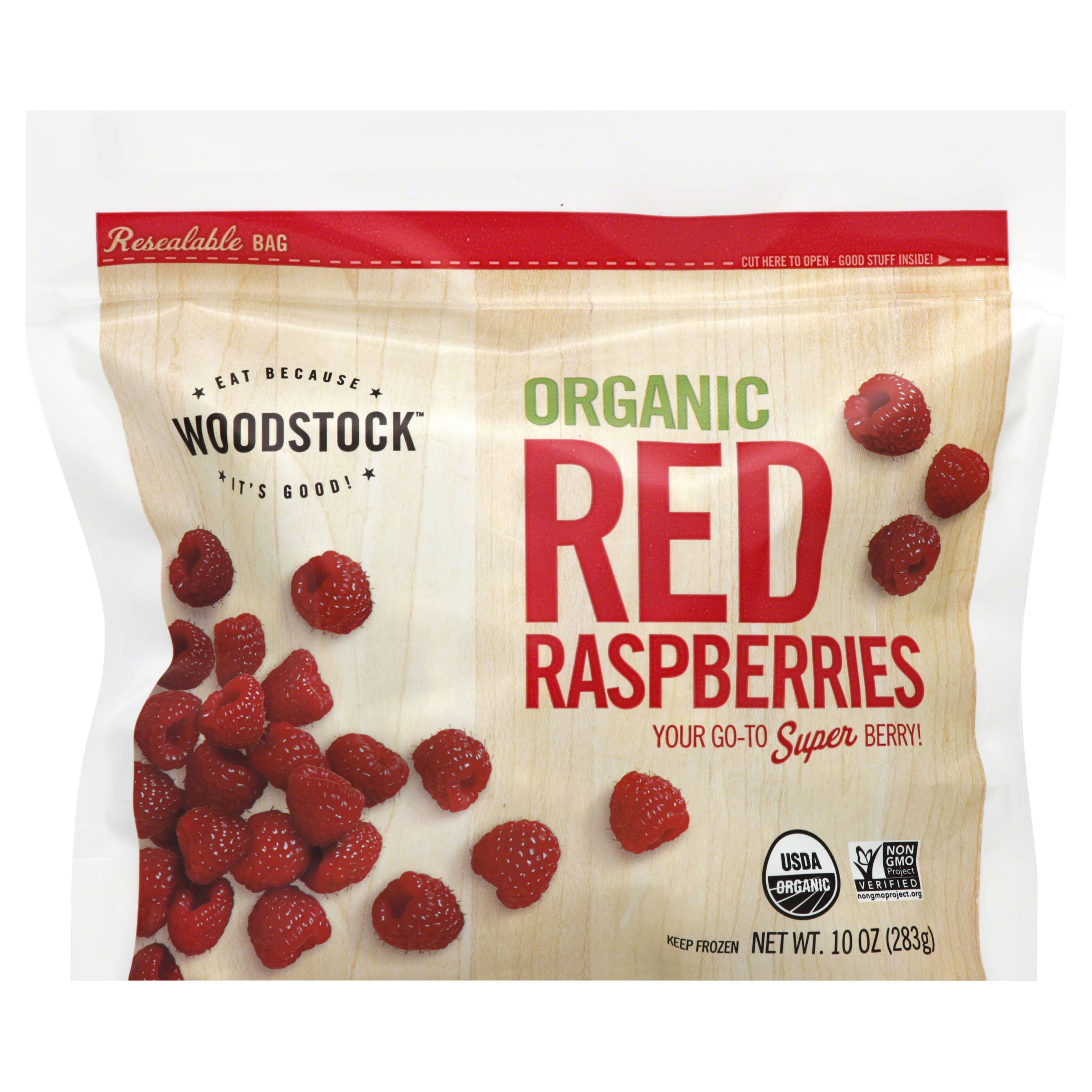 Woodstock Raspberries, Red, Organic - 10 oz