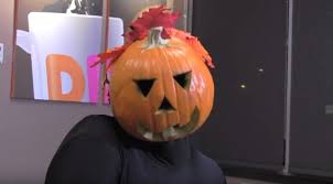 Dancing Pumpkin Man Welcomes The Return Of At Dunkin