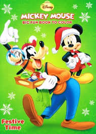 Get Quotations Disneys Mickey Mouse Merry Melodies And Festive Time Christmas Coloring Book Set