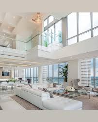 100 Interior Design High Ceilings Glass Railing Overhanging The Living Room With High Ceiling
