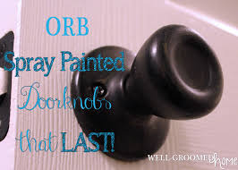 Updating Door Knobs with Spray Paint Well Groomed Home