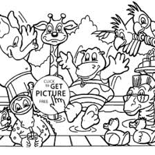 Zoo Animals Coloring Page For Kids Animal Pages
