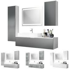 badmöbel komplett set weiß badezimmer spiegel led beleuchtung