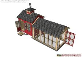 6x8 Saltbox Shed Plans by Cb211 Combo Chicken Coop Garden Shed Plans Chicken Coop Plans