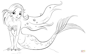 Mermaid Coloring Pages Printable Free Page Drawing