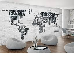 tapisserie bureau la russie canada carte du monde personnalisé bricolage 3d papier