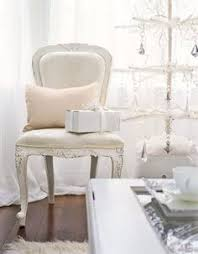 White Christmas Furniture And Accents Make A Room Look Larger The Perfect Setting For Winter Wonderland Decor