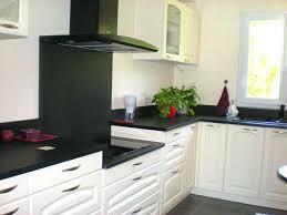 cuisine grise et plan de travail noir impressionnant cuisine blanche plan de travail noir et cuisine