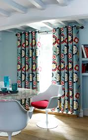 Kitchen Curtains Searsca by Retro Curtains With Contemporary Grommet Header Mid Century