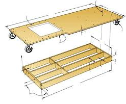 Cabinet Table Saw Mobile Base by 31 Md 00742 Torsion Box Mobile Base Woodworking Plan
