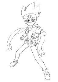 Coloriage Beyblade Burst A Imprimer With Gingka Anime Ginga