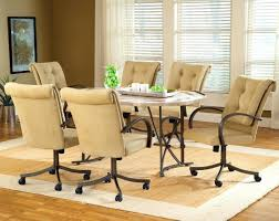 Upholstered Dining Room Chairs With Casters Full Size Of Dining Room ...